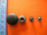 Кнопка пластиковый верх 20мм цвет черный(китай)