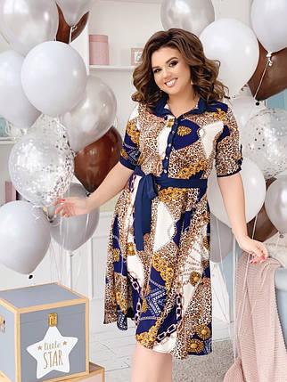 """Приталенное платье-рубашка """"Darville"""" с коротким рукавом (большие размеры), фото 2"""