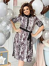 """Приталенное платье-рубашка """"Darville"""" с коротким рукавом (большие размеры), фото 3"""