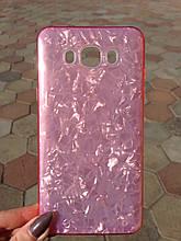 Чехол Samsung J7 2016 Pink Broken Glass