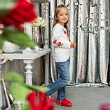 Вишиванка для дівчинки довгий рукав, фото 3