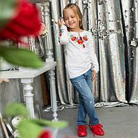 Вышиванка для девочки длинный рукав, фото 1