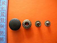 Кнопка с пластиковой шляпкой 17мм черная