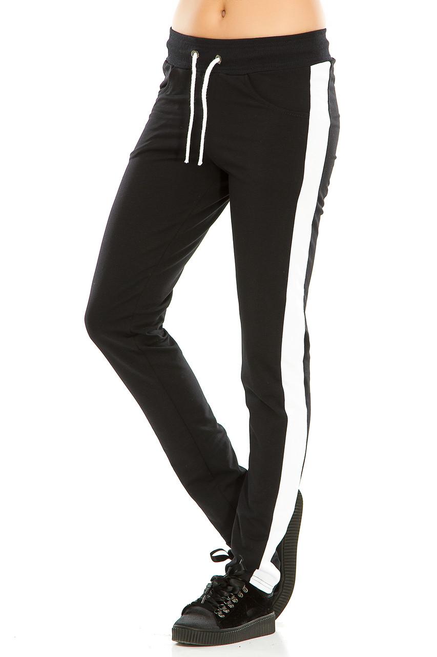 Женские спортивные штаны 466  темно-синие