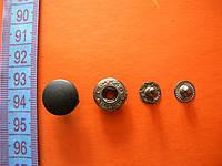 Кнопка 15мм пластиковый верх цвет черный