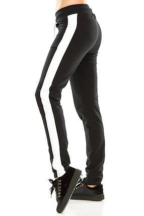 Женские спортивные штаны 466  темно-синие, фото 2