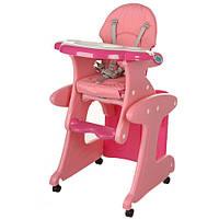 Детский стульчик для кормления Bambi M 3267-8 Розовый (intM 3267-8)