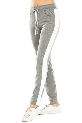 Женские спортивные штаны 466  темно-серые, фото 2