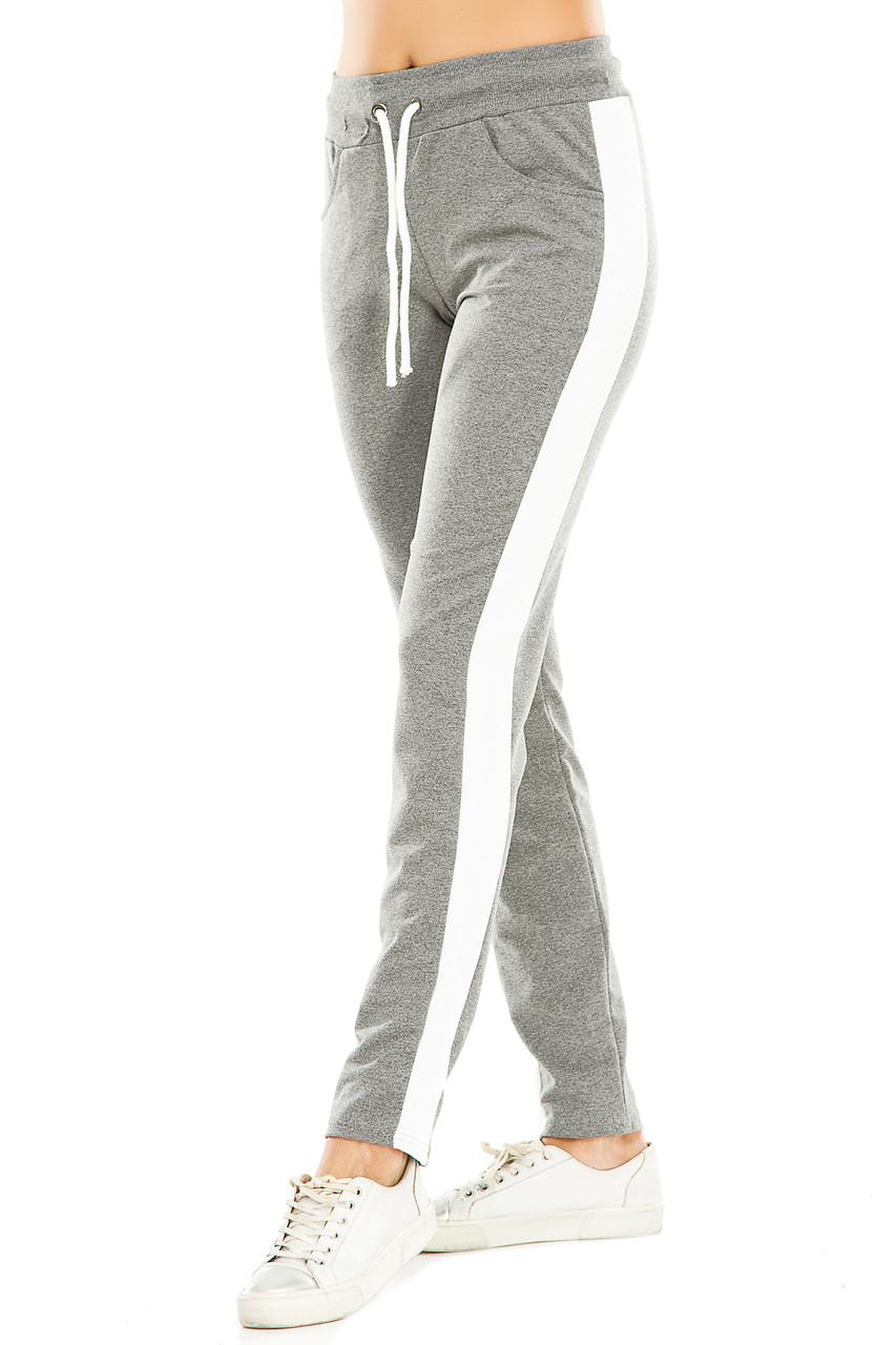 Женские спортивные штаны 466  темно-серые