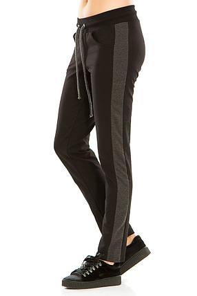 Женские спортивные штаны 466  черные, фото 2
