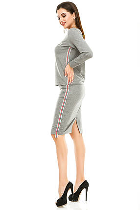 Женский костюм 479 темно-серый, фото 2