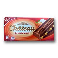 """Шоколад """"Chateau"""" Rahm Mandel, молочний з цільним мигдалем, 200г"""