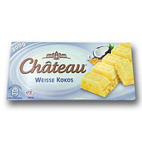 """Шоколад """"Chateau"""" Weisse Kokos, білий кокосовий, 200г"""