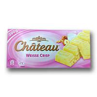 """Шоколад """"Chateau"""" Weisse Crisp, білий з шматочками фундука і криспи, 200г"""