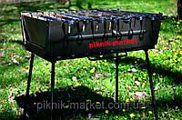 Мангал Вакула разборной на 8 шампуров из высококачественной стали+кочерга в подарок