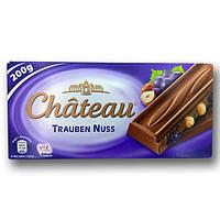 """Шоколад """"Chateau"""" Trauben Nuss, молочний з цілими лісовими горіхами та родзинками, 200г"""