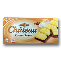 """Шоколад """"Chateau"""" Kaffee Sahne, двошаровий, білий з кавовим, 200г"""