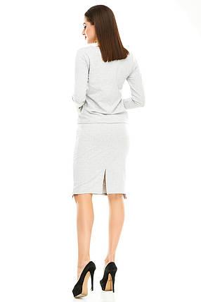 Женский костюм 479 серый размер 42-44, фото 2