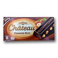 """Шоколад """"Chateau"""" Feinherb Nuss, чорний з цільними лісовими горіхами, 200г"""