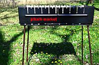 Мангал-чемодам Вакула из высококачественной стали 2мм на 10 шампуров
