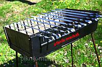 Разборной мангал-чемодан на 10 шампуров с шампурами 10 шт.чехол к шампурам в подарок