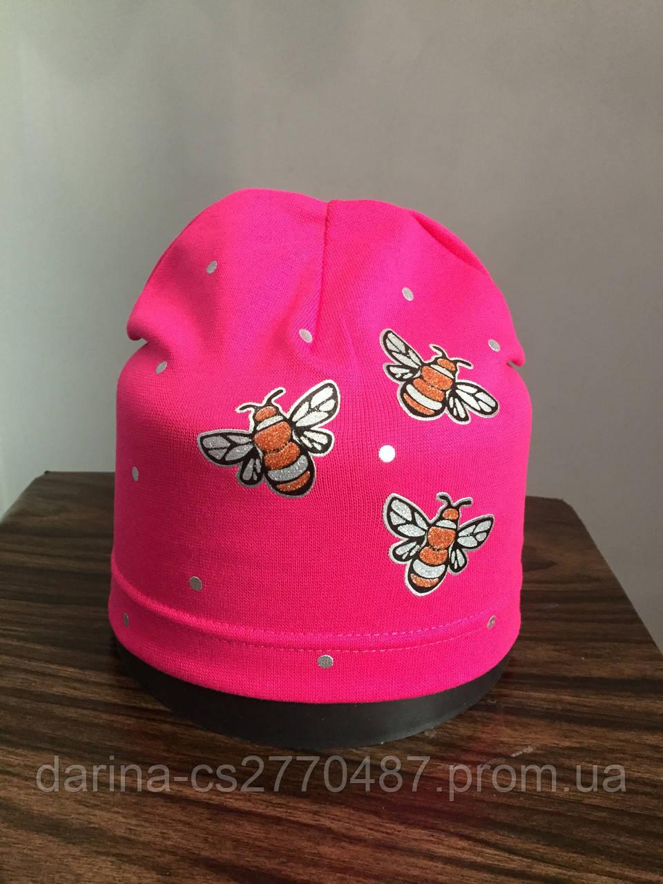 Детская шапка с пчелками