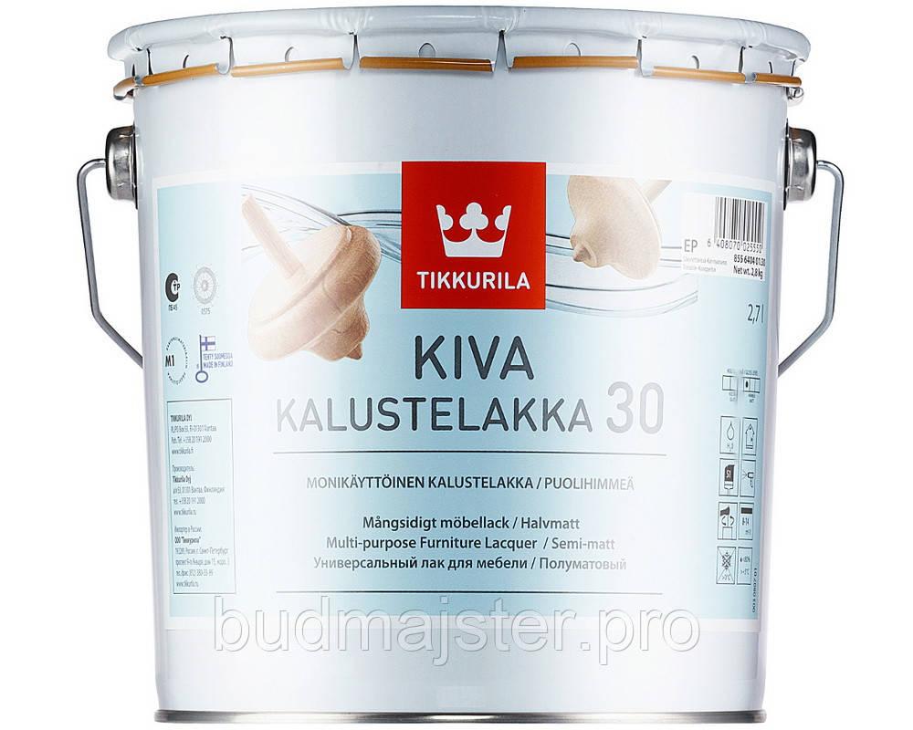Лак Tikkurila Ківа півматовий, 0,9 л