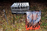 Мангал-чемодан раскладной из металла 2мм на 6 шампуров
