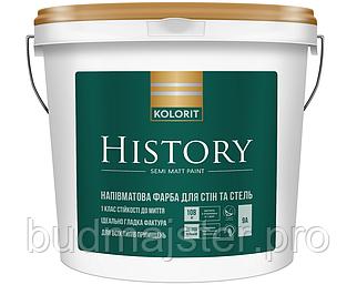 Фарба KOLORIT History Півматова фарба для вологих приміщень, 9 л