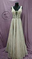 bf5cfe81161 Блестящее вечернее платье выпускное платье в цвете нюд с золотым