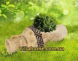 """Декоративная cадовая амфора """"Аттика"""" Длина 58 см. Ландшафтная ваза., фото 4"""