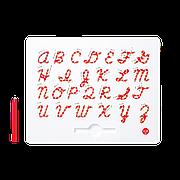 Магнитная доска для изучения английских больших прописных букв от А до Z, 3+ (цвет красный)