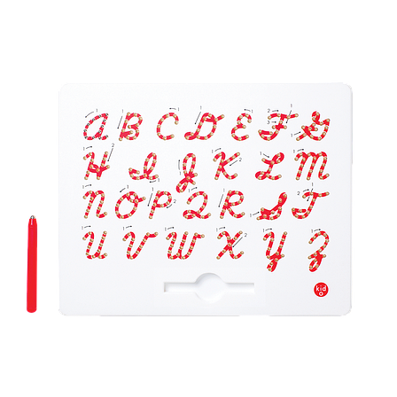 Магнитная доска для изучения английских больших прописных букв от А до Z, 3+ (цвет красный), фото 2