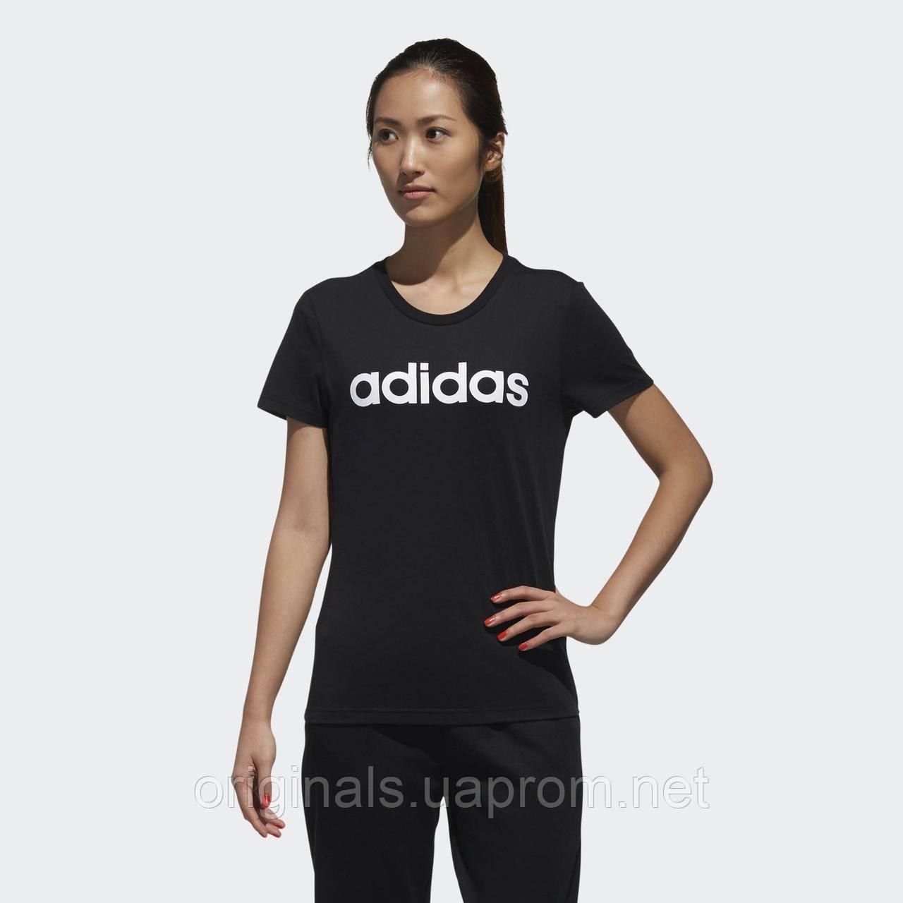 Черная футболка Adidas женская W CE TEE DW7941