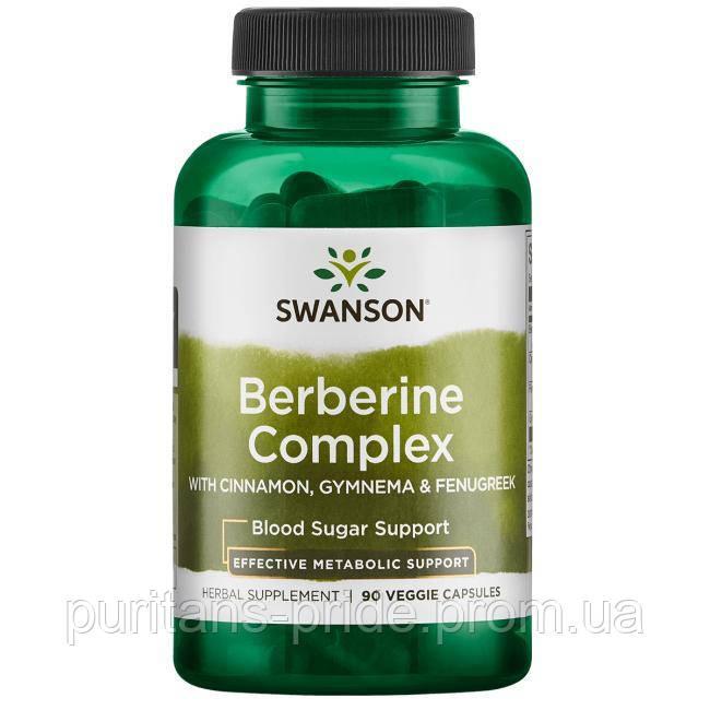 Berberine Complex w/Cinnamon, Gymnema & Fenugreek, Swanson, 90 капсул