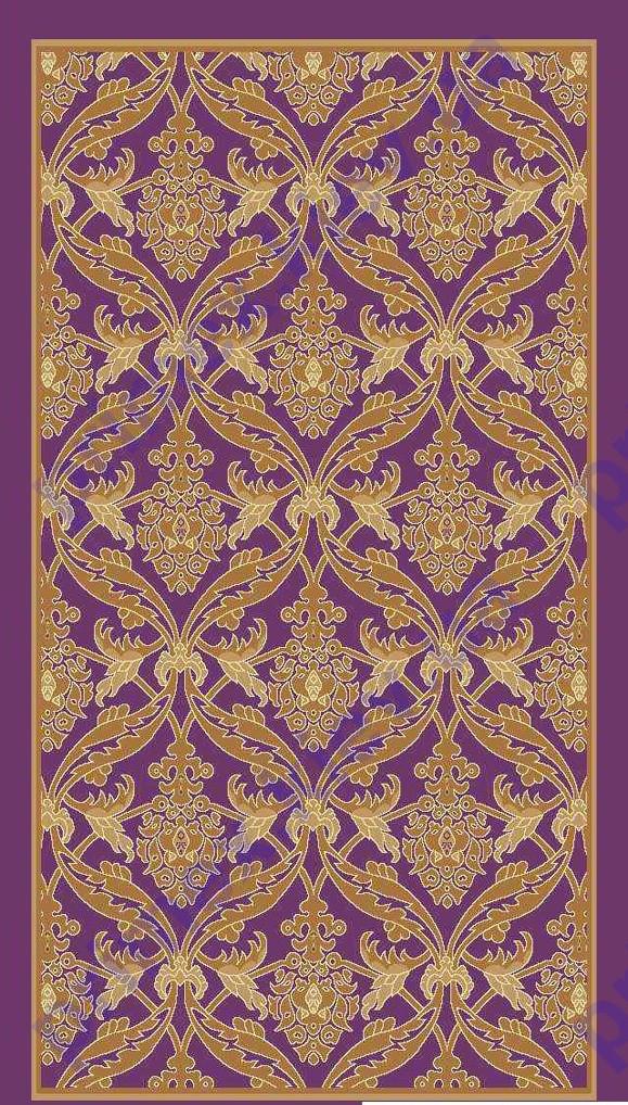 Килим Super Elmas (Туреччина) пурпурний (пурпуровий) з бежевим