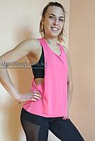 Одежда для спорта и фитнеса. Майка-Баталл розовая