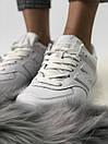 Белые женские кроссовки New Balance 574 из натуральной кожи, фото 3