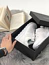 Белые женские кроссовки New Balance 574 из натуральной кожи, фото 6