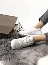 Белые женские кроссовки New Balance 574 из натуральной кожи, фото 10
