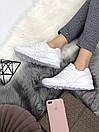 Белые женские кроссовки New Balance 574 из натуральной кожи, фото 7