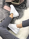 Белые женские кроссовки New Balance 574 из натуральной кожи, фото 8