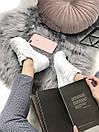 Белые женские кроссовки New Balance 574 из натуральной кожи, фото 9
