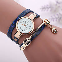 Женские часы-браслет на длинном ремешке (Синие)