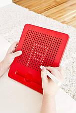 Магнитная доска для рисования, 3+ (цвет красный) Kid O, фото 3