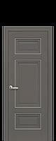 Дверное полотно Шарм Антрацит глухое с молдингом