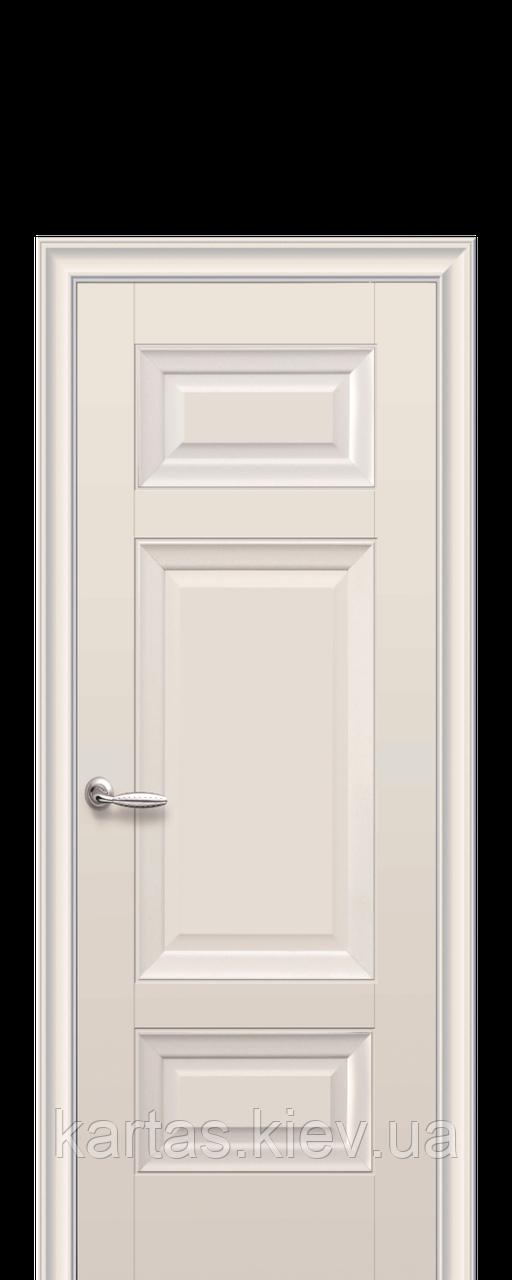 Дверное полотно Шарм Капучино глухое с молдингом