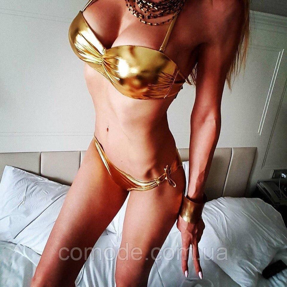 Купальник норма Sisianna блестящий золотой
