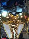 Купальник блестящий золотой, фото 4
