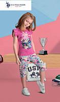 Футболка+капри для девочки 456-4 U.S.Polo Assn